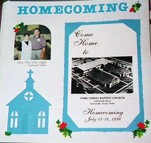 Church Homecoming for Pinterest